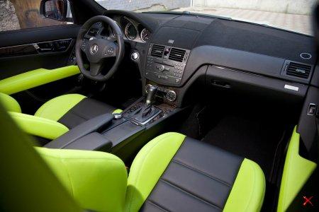 Изменение салона AMG C63 в мастерской Pale Design в Одессе..