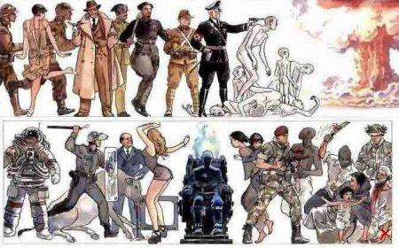 История Эволюции человечества (5 Рисунков)