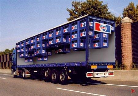 Классно разукрашенные грузовики. 7 Штук