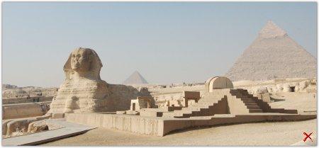 Плато Гиза .Египет, гигантский некрополь.