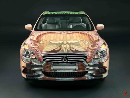 Infiniti G37 Sport Coupe Арт-проект раскрашенный вручную