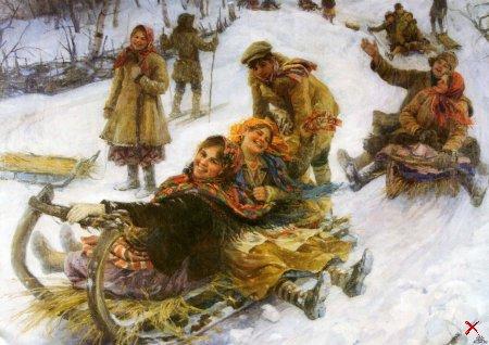 Зимние забавы на Руси