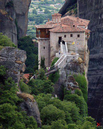 Clifftop , Meteora , Greece