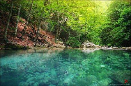 Голубое озеро , Большой каньон , Крым