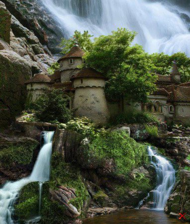 Waterfall Castle , Poland