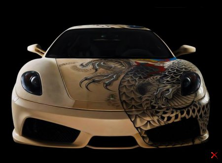 Татуированный суперкар Ferrari F430
