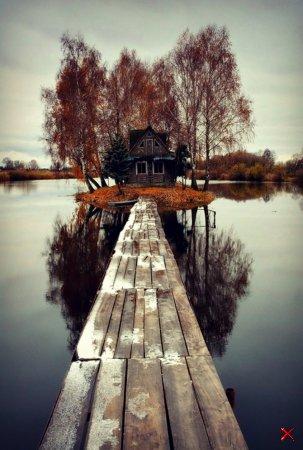 Домик на острове, Финляндия