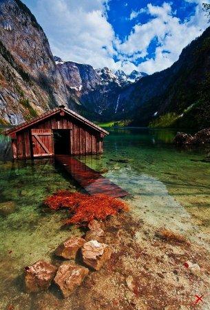Сарай для лодок, Боденское озеро, Германия
