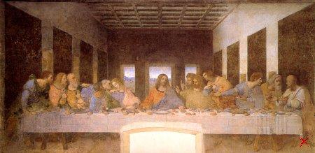 Леонардо да Винчи. Тайная вечеря (Милан. Церковь Санта Мария делле Грацие)