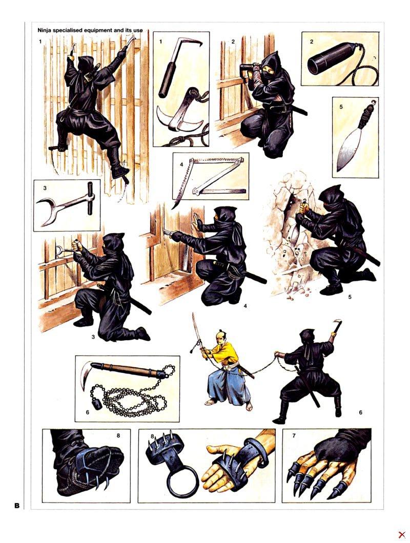 paper ninja weapons