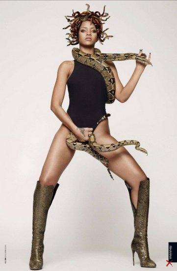 Скандальное фото Рианны в стиле Медузы-Горгоны для GQ Magazine